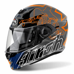 Airoh Casco Integral Storm Bionikle Orange Gloss