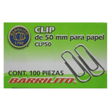 Barrilito Clip para Papel 50 MM