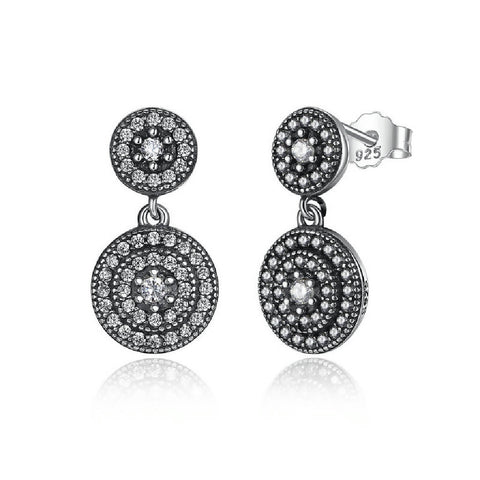 CR Charms Aretes Esferas Brillantes
