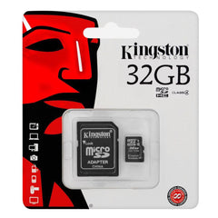 Kingston Tarjeta de Memoria 32GB Flash SD con Adaptador Clase 4 SDC4/32GB - Barulu.com