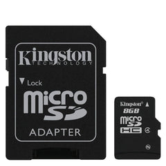 Kingston Tarjeta de Memoria 8GB Flash con Adaptador Clase 4 SDC4/8GB - Barulu.com