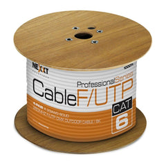 Nexxt Solutions Cable de Interconexión Exteriores, Rollo de 304.8 Mts, F/UTP, Cat6, Negro