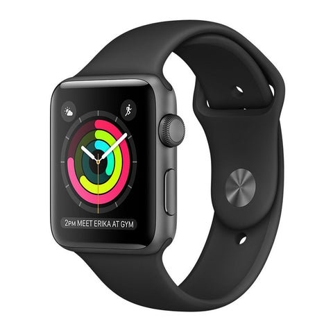 Apple Watch S1 A1554 42mm Black Band Casa Aluminum