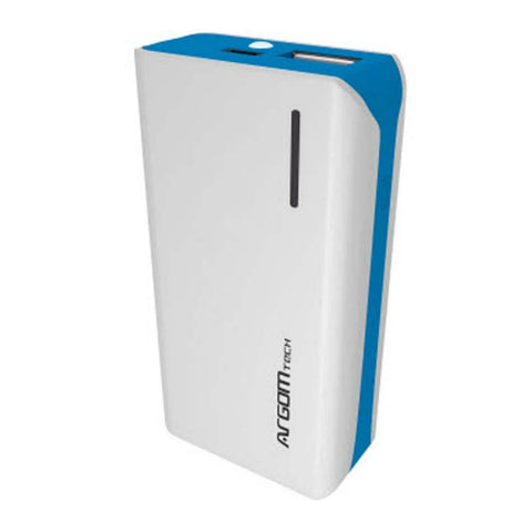 Argom Power Bank 5000 mAh Cargador Externo, Blanco