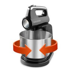Black & Decker Batidora con Tazon en Acero Inoxidable 5 Vel. MX1200