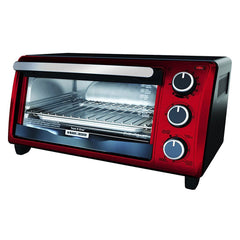 Black & Decker Horno Tostador de 4 Rebanadas, TO1303RB