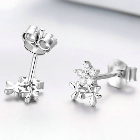 CR Charms Aretes Ramillete Brillante