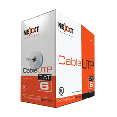 Nexxt Solutions Cable de Interconexión, Rollo de 304.8 Mts, UTP, Cat6