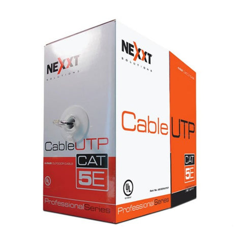 Nexxt Solutions Infrastructure Cable de Interconexión Exteriores, Rollo de 304.8 Mts, UTP, Cat5e