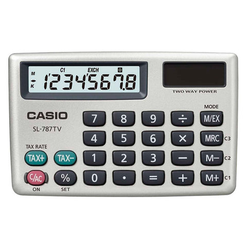 Casio Calculadora de Bolsillo SL-787TV