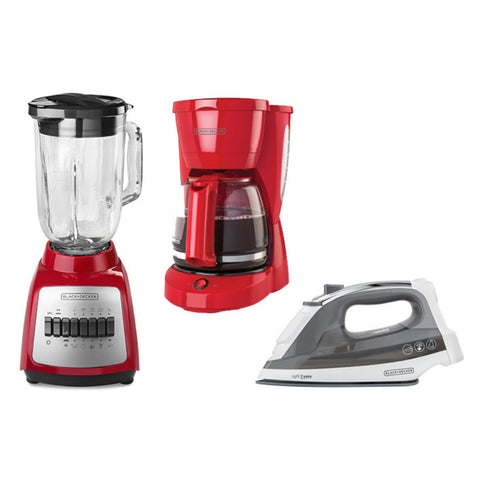 Black & Decker Combo Licuadora + Coffee Maker 10 Tazas + Plancha