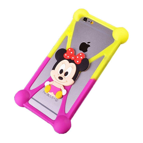 Creative Case Estuche Protector Silicón Universal, Minnie BeBe Doble Color