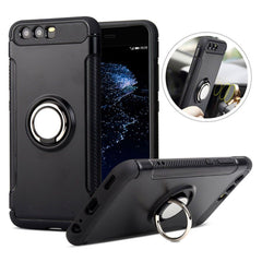 Creative Case Estuche Silicon con Holder Anillo para Huawei P10 Plus