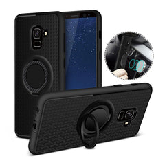Creative Case Estuche Silicon con Holder Anillo para Samsung A8 (2018)