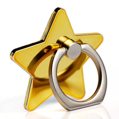 Creative Case Holder Anillo Estrella, Dorado