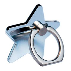 Creative Case Holder Anillo Estrella, Plata