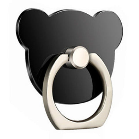 Creative Case Holder Anillo Oso, Negro