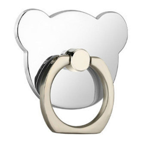 Creative Case Holder Anillo Oso, Plata