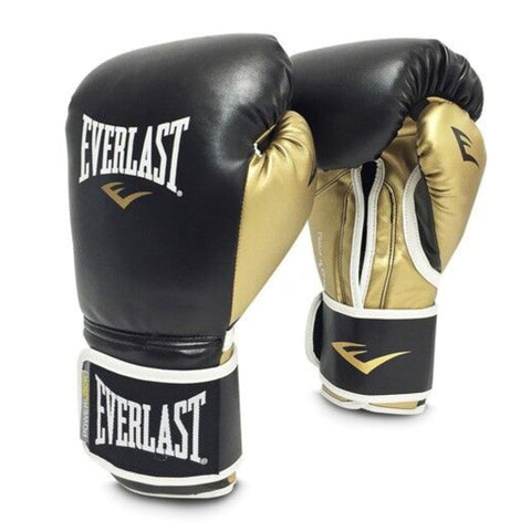 Everlast Guante de Boxeo Power Lock Hook / Loop, BK/GD