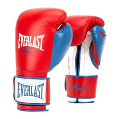 Everlast Guante de Boxeo Power Lock Hook / Loop, RD/WT
