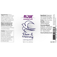 Now Aceite Esencial Peace & Harmony, 30 ML