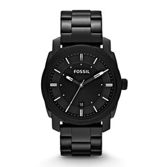 Fossil Reloj para Hombre Machine Black Stainless Steel, FS4775