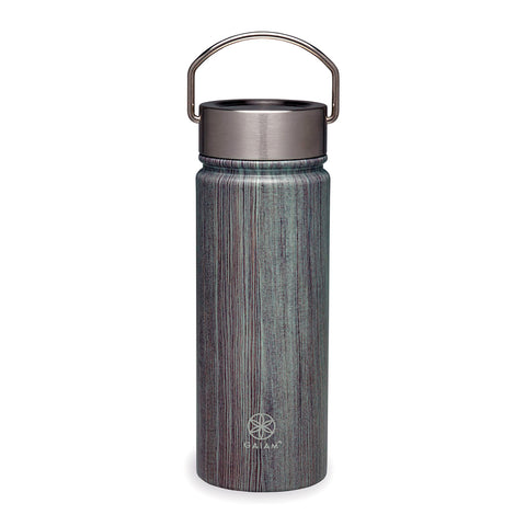 Gaiam Botella para Agua de Boca Ancha Woodland, 18 Oz