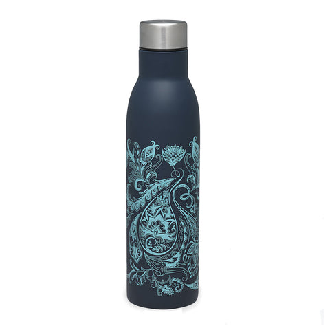 Gaiam Botella para Agua Easy Grip Primavera Paisley, 25 Oz