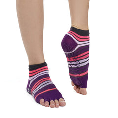 Gaiam Calcetines para Yoga Toeless Rosa/Morado