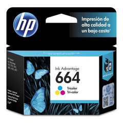 HP Cartucho de Tinta 664 Color (F6V28AL)