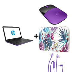 "HP Combo Laptop Notebook 15.6"" (15-BW022LA) + Funda HP + Mouse HP + Audífonos"