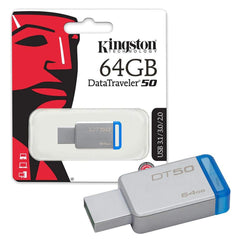 Kingston Memoria Flash USB 64 GB DT50/64GB 3.1
