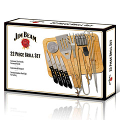 Jim Beam Set para Parrillada 22 Piezas, (JB0102)