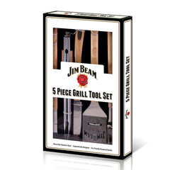 Jim Beam Set para Parrillada 5 Piezas, (JB0149)