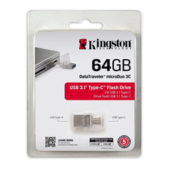 Kingston Memoria Flash USB 64 GB MicroDuo USB 3.1 / USB-C