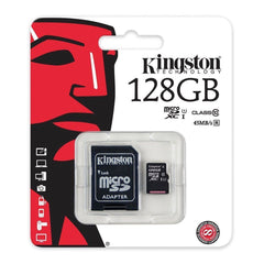 Kingston Tarjeta de Memoria 128GB MicroSD con Adaptador Clase 10 (SDCS/128GB)