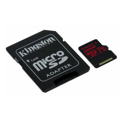 Kingston Tarjeta de Memoria 128GB MicroSDXC con Adaptador Clase 10 (SDCR/128GB)