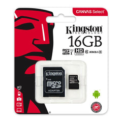 Kingston Tarjeta de Memoria 16GB MicroSD con Adaptador Clase 10 (SDC/16GB)