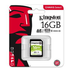 Kingston Tarjeta de Memoria 16GB SDXC Clase10 (SDS/16GB)