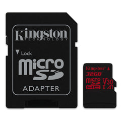 Kingston Tarjeta de Memoria 32GB MicroSDXC con Adaptador Clase 10 (SDCR/32GB)