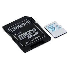 Kingston Tarjeta de Memoria 64GB MicroSDXC con Adaptador Clase 10 (SDCAC/64GB)