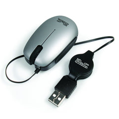 Klip Xtreme Mouse Óptico con Cable Retráctil Mini KMO-130S