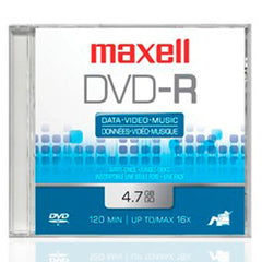 Maxell Disco DVD Grabable DVD-R 16X 4.7 GB, 638036S