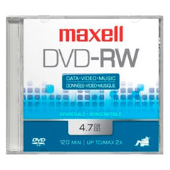 Maxell Disco DVD Regrabable DVD-RW 2X Single 4.7 GB, 635091