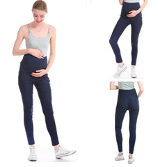 Pacifica Wear Leggins de Maternidad, Azul