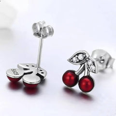 CR Charms Aretes Cerezas