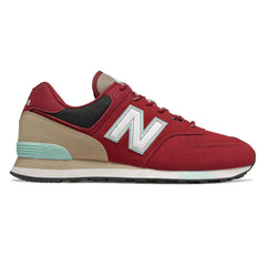 New Balance Tenis 574 Team Red With Light Reef, para Hombre