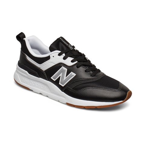 New Balance Tenis 997 Leather Black, para Hombre
