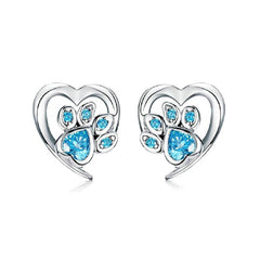 CR Charms Aretes Patitas Brillantes
