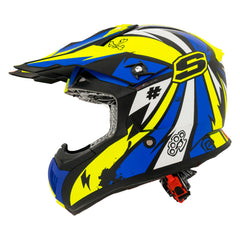 Shaft Casco Cross SH-MX05 Psyco Amarillo/Azul